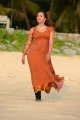 Ester Noronha Hot Pictures in Moderate Orange Color Dress