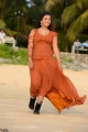 Actress Ester Noronha Hot Pictures in Moderate Orange Color Dress