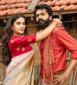 Nidhi Agarwal, Simbu @ Eeswarana Movie Stills