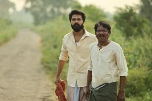 Simbu, Bharathiraja in Eswaran Movie Images
