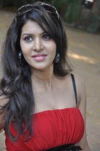 Tamil Actress Priyadarshini  in Red Dress Hot Stills