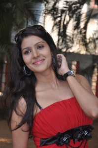 Ethiriyai Vel Actress Priyadarshini Hot Stills in Red Dress
