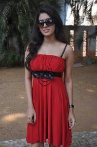 Actress Priyadarshini Hot Stills in Red Dress