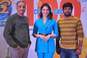 Dil Raju, Tamannaah, Anil Ravipudi @ F2 Movie 100cr Blockbuster Press Meet Stills