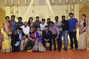 Venkat Prabhu, Premji, Nithin Sathya, Vijay Vasanth @ Vijayalakshmi Wedding Reception Stills