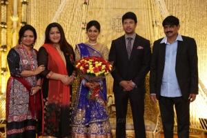 Kushboo @ Feroz Vijayalakshmi Wedding Reception Stills