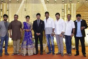 Nassar, Vishal, Karthi @ Feroz Vijayalakshmi Wedding Reception Stills