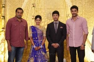 Arulnidhi @ Feroz Vijayalakshmi Wedding Reception Stills