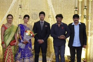 Preetha, Hari @ Feroz Vijayalakshmi Wedding Reception Stills