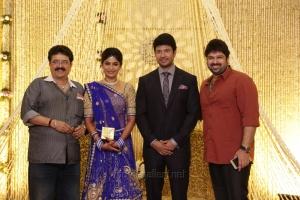 SV Sekar, Ashwin @ Feroz Vijayalakshmi Wedding Reception Stills