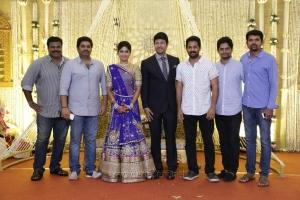 P Madhan @ Feroz Vijayalakshmi Wedding Reception Stills