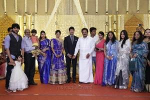 Su. Thirunavukkarasar @ Feroz Vijayalakshmi Wedding Reception Stills