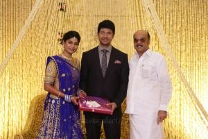 AL Alagappan @ Feroz Vijayalakshmi Wedding Reception Stills