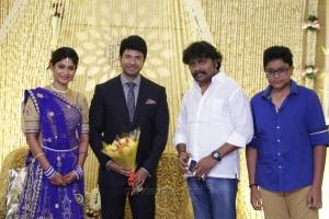 JSK Sathish Kumar @ Feroz Vijayalakshmi Wedding Reception Stills