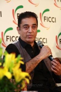 Kamal Hassan at FICCI MEBC Chennai Closing Ceremony Press Meet Stills