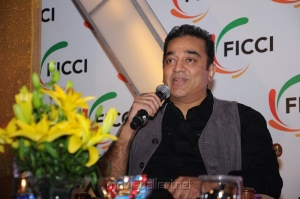 Kamal at FICCI 2012 Closing Ceremony Press Meet Photos