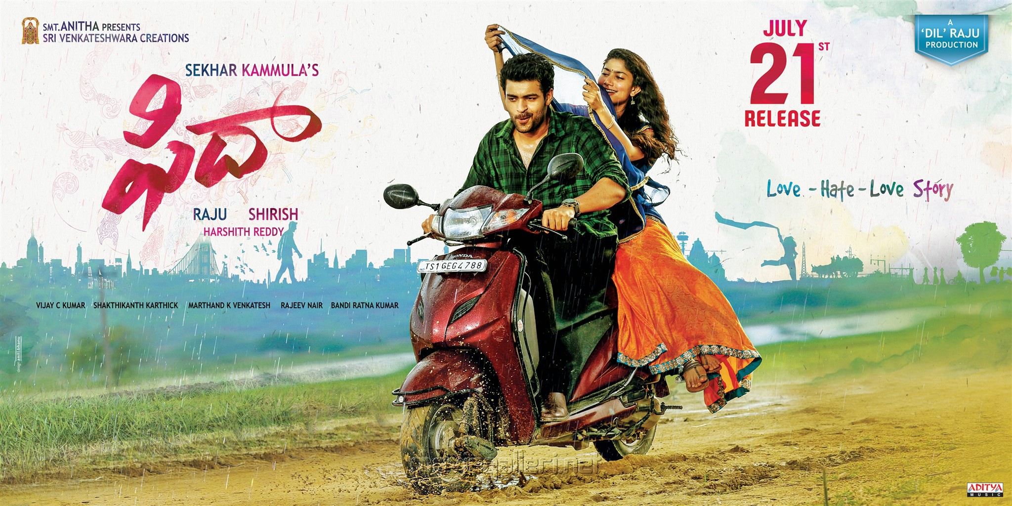 Fidaa telugu movie posters