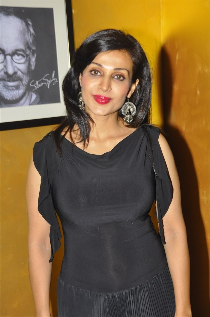 Telugu Actress Flora Saini Latest Photos in Black Dress