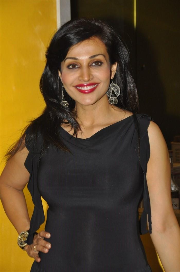 Actress Flora Saini Latest Photos in Black Dress
