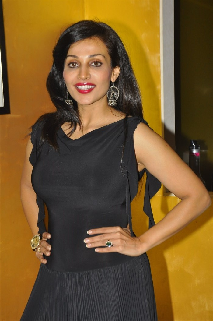 Telugu Actress Asha Saini Latest Photos in Black Dress