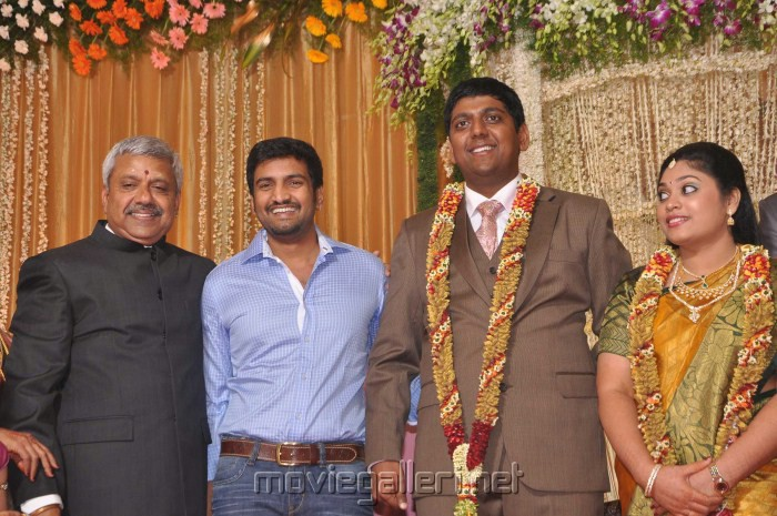 Santhanam Four Frames Kalyanam Son Wedding Reception