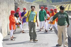 Pawan Kalyan's Gabbar Singh Shooting Pics in Swiss