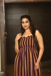 Anchor Manjusha @ Gaddalakonda Ganesh Movie Success Meet Stills