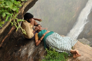 Vikram Prabhu, Lakshmi Menon in Gajaraju Telugu Movie Stills