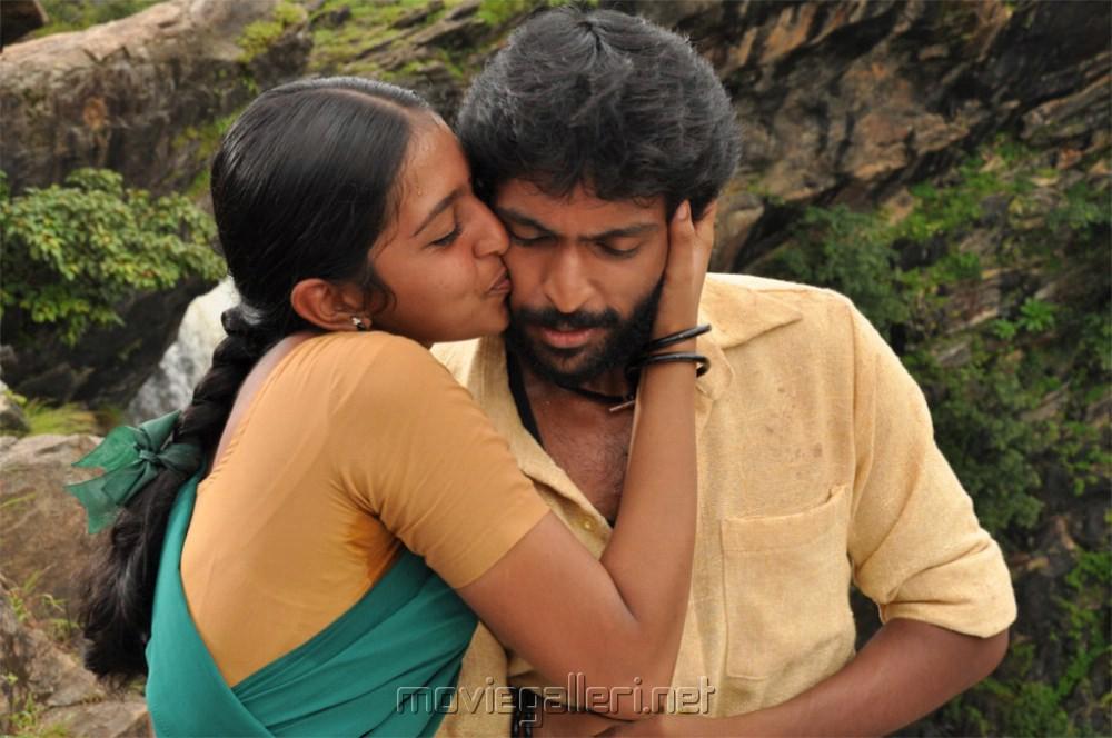 Lakshmi Menon, Vikram Prabhu in Gajaraju Telugu Movie Stills