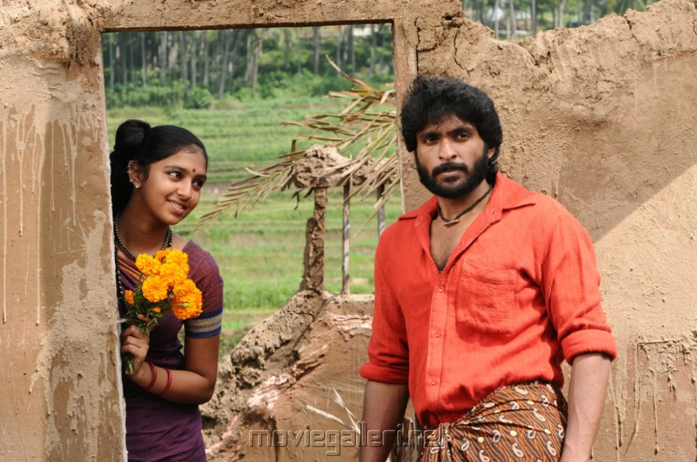 Lakshmi Menon, Vikram Prabhu in Gajaraju Telugu Movie Stills