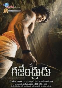 Actor Arya in Gajendrudu Movie Posters