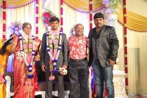 Lollu Sabha Manohar @ Gana Ulaganathan Daughter Wedding Reception Photos