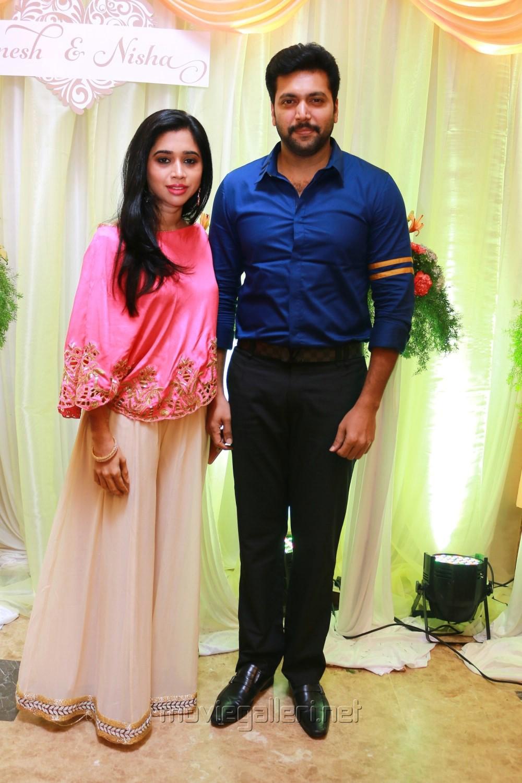 Aarthi Jayam Ravi Ganesh Venkatraman Nisha Krishnan Wedding Reception Stills
