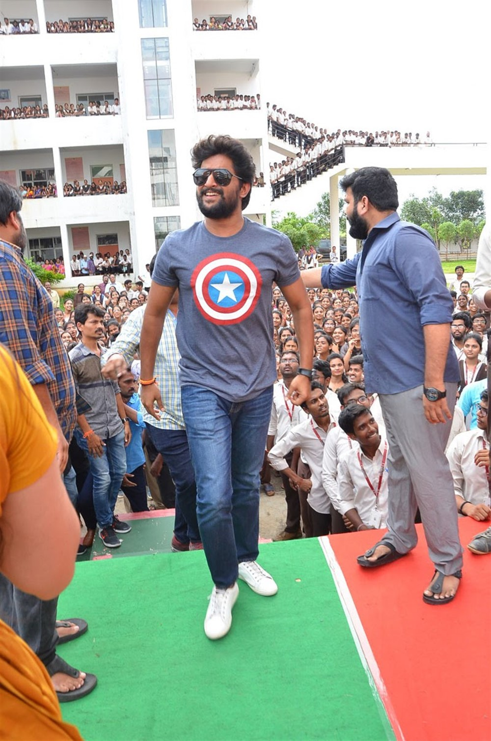 Nani Gang Leader Team visits VVIT College Guntur