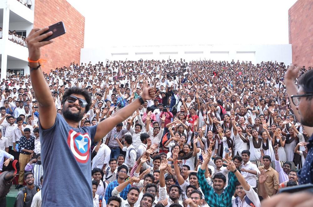 Nani Gang Leader Team visits VVIT College Guntur