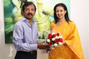Actress Gowthami visits Ganesh 365 Art Exhibition Photos
