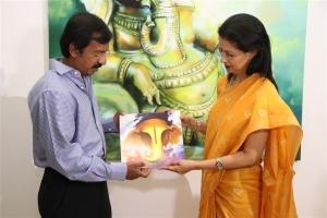 Actress Gauthami visits Ganesh 365 Art Exhibition, Art Houz, Chennai