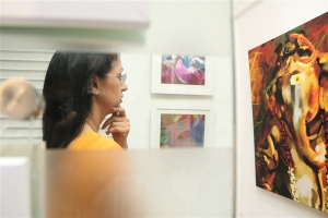 Actress Gautami visits Ganesh 365 Art Exhibition Photos