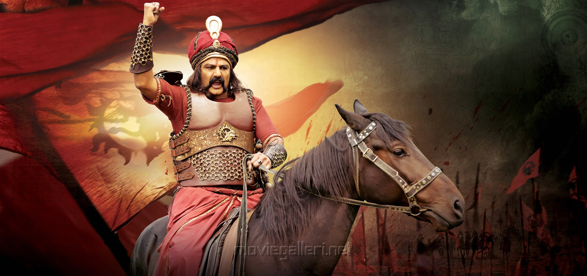 Actor Balakrishna in Gautamiputra Satakarni Movie HD Stills