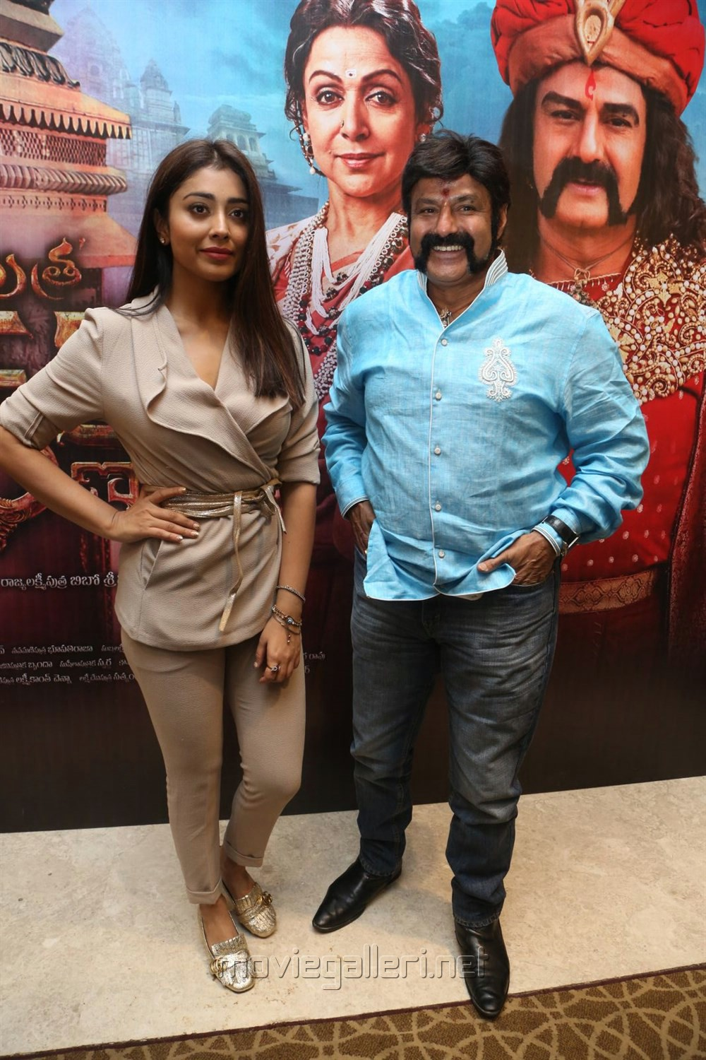 Shriya Saran, Balakrishna @ Gautamiputra Satakarni Press Meet Stills