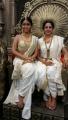 Shriya Saran, Hema Malini @ Gautamiputra Satakarni Shooting Spot Stills