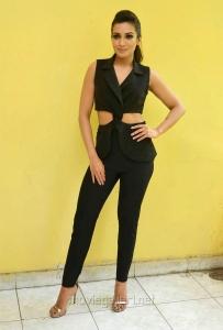 Gautham Nanda Actress Catherine Tresa in Black Dress Photos