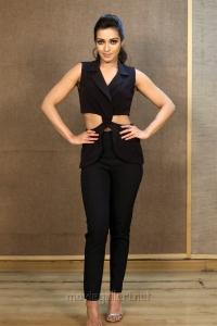Actress Catherine Tresa in Black Dress Photos @ Gautham Nanda Interview