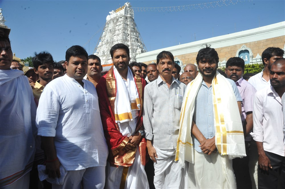 Gautham Nanda Team @ Tirupati Tirumala Temple Photos