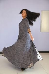Actress Gayathrie Shankar Images in Grey Long Dress