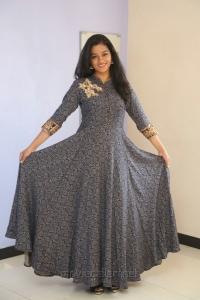 Actress Gayathri Shankar Long Dress Photos
