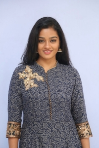 Actress Gayathri Shankar Images in Grey Long Dress