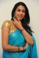 Gayatri Iyer Hot in Blue Saree Photo Shoot Stills