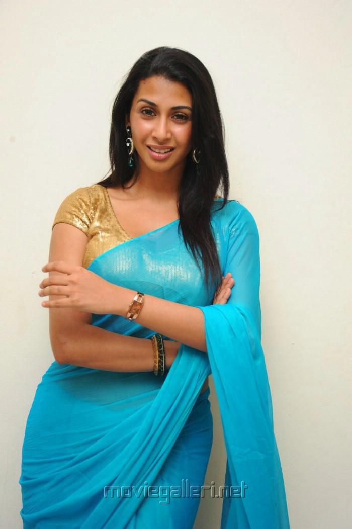 Telugu Actress Gayatri Iyer in Saree Hot Pics