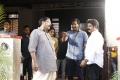 Y. Kasi Viswanath, Manchu Vishnu, Balakrishna @ Gayatri Movie Working Stills